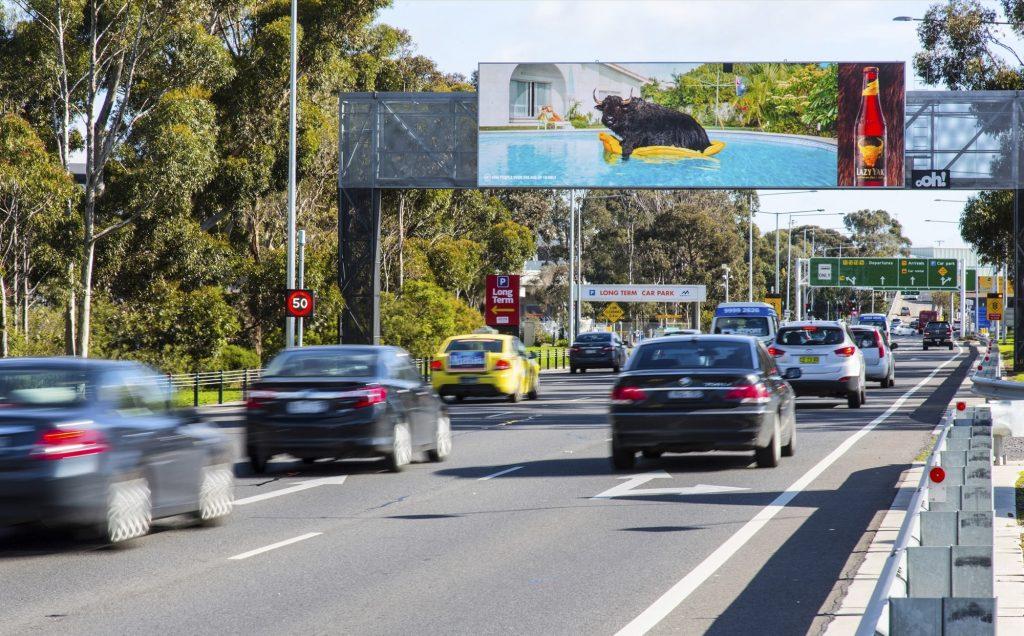 Lazy Yak road advertising on billboard