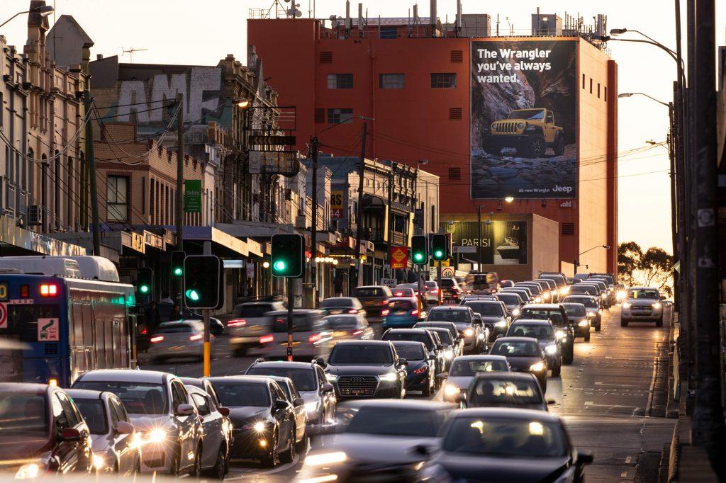 Jeep road advertising on billboard