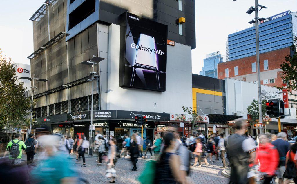 Samsung road advertising on billboard