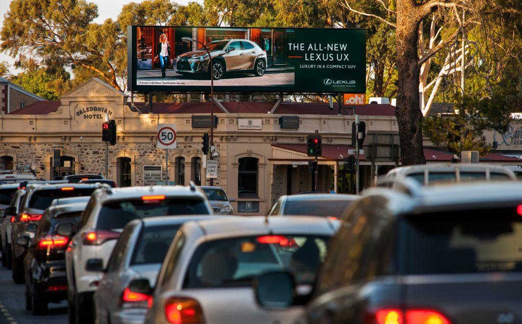 Lexus road advertising on billboard